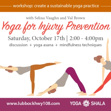 Yoga Shala Workshop Injury Prevention